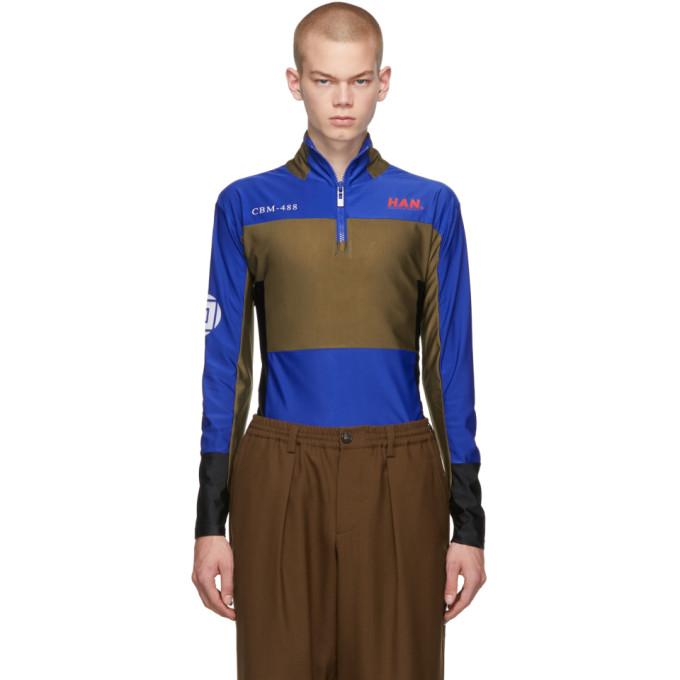 Han Kjobenhavn T-shirt bleu Tech