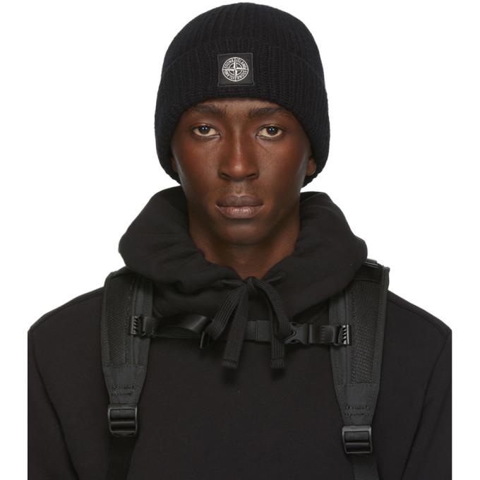 Stone Island Bonnet en laine noir