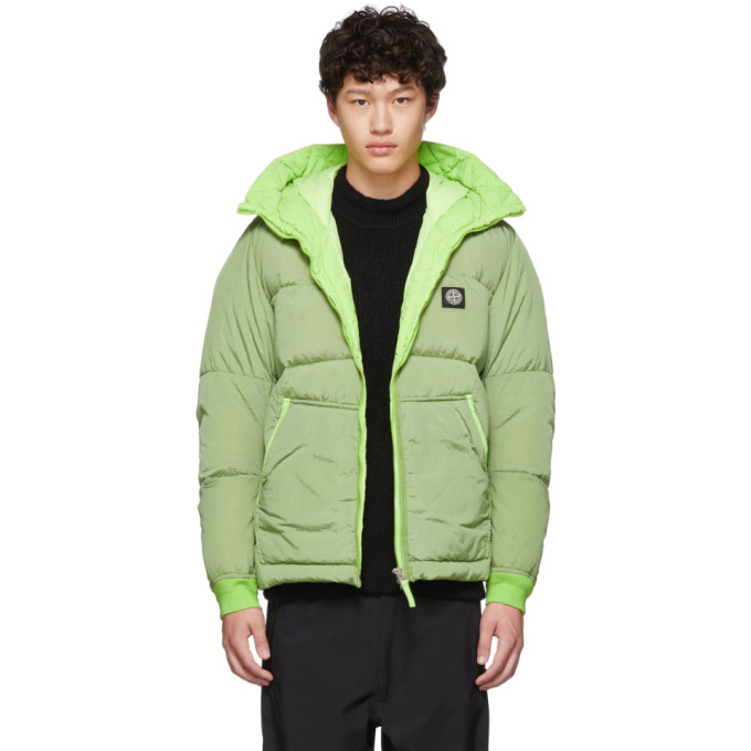 Stone Island Green Down Nylon Metal Watro Ripstop TC Jacket