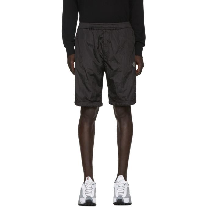 Stone Island Black Nylon Metal Bermuda Shorts