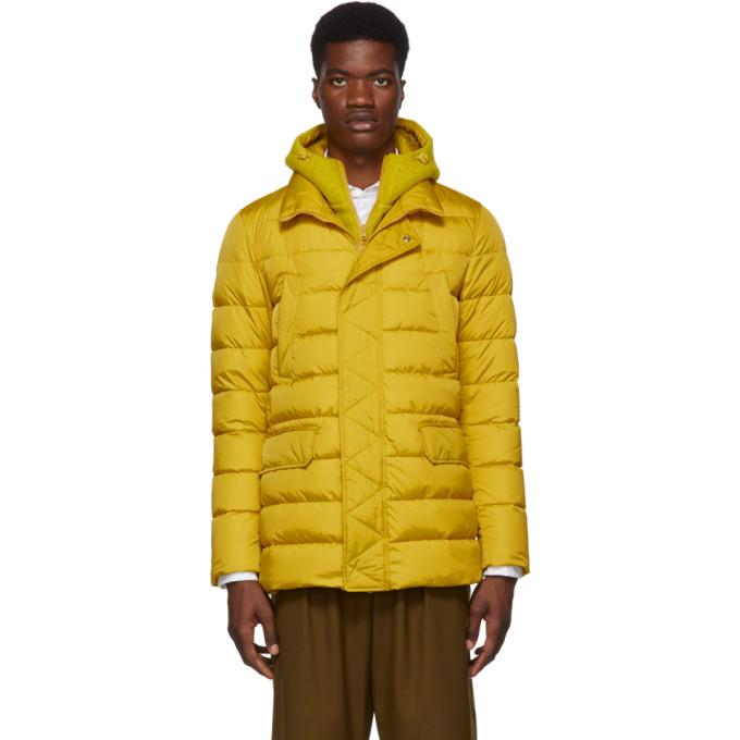 Herno Yellow Down Chamonix and Scuba Coat