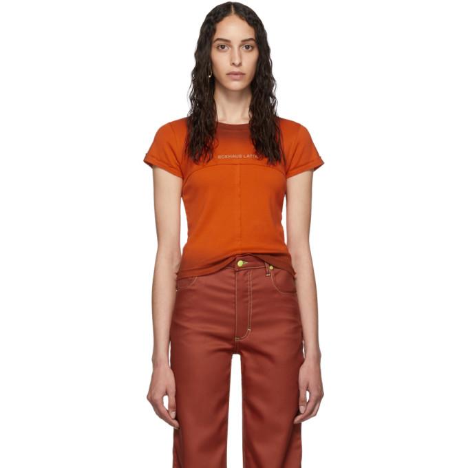 Eckhaus Latta T-shirt orange Lapped Baby