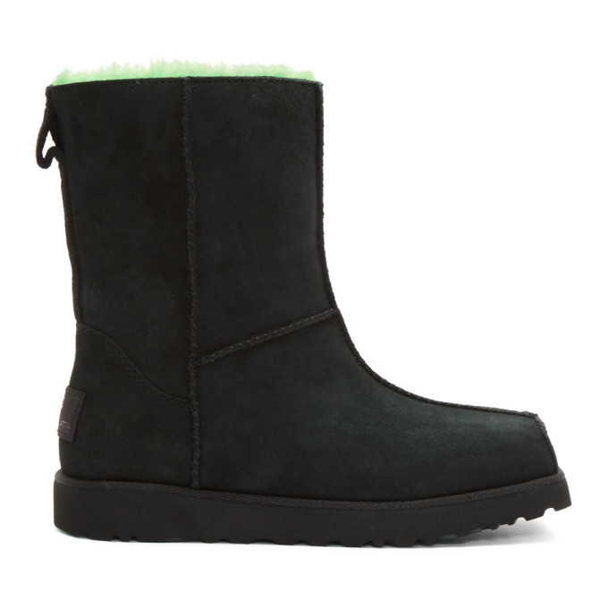Eckhaus Latta Black and Green UGG Edition Block Boots