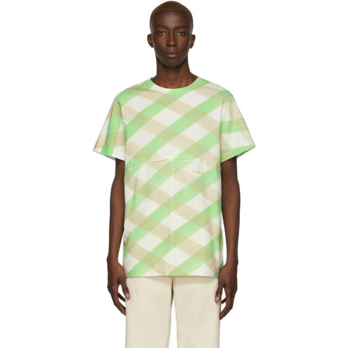 Eckhaus Latta T-shirt blanc Lattice Lapped