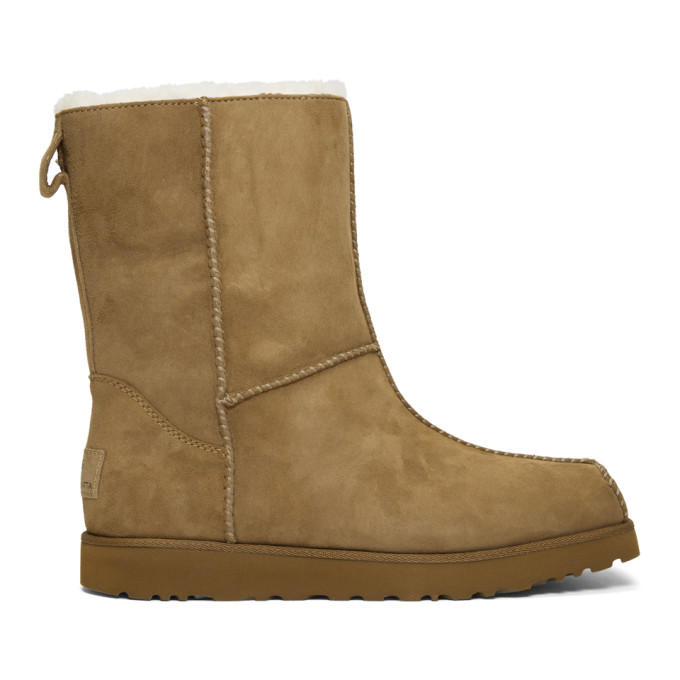 Eckhaus Latta Brown and Off-White UGG Edition Block Boots