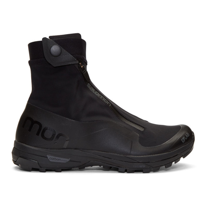 Salomon Black XA Alpine High-Top Sneakers