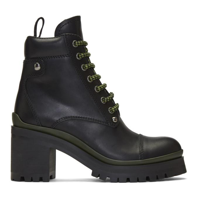 Miu Miu Black Heeled Ankle Boots