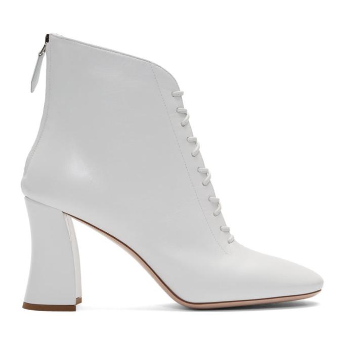Miu Miu White Rochetto Boots