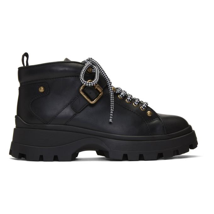Miu Miu Black Low-Top Ankle Boots
