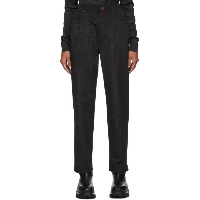 032c Pantalon en moire noir