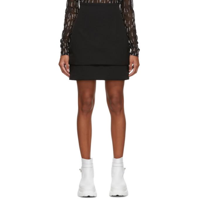 032c Mini-jupe bouffante noire