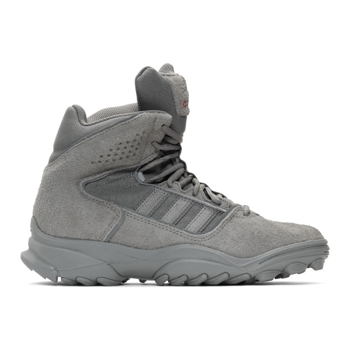 032c Grey adidas Originals Edition Suede GSG 9 High Top Sneakers