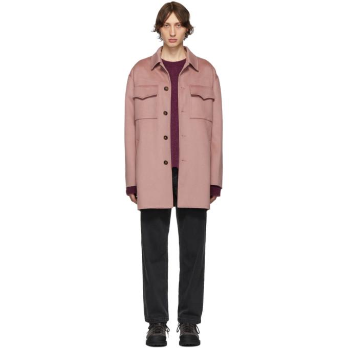 Nanushka Pink Rhys Coat