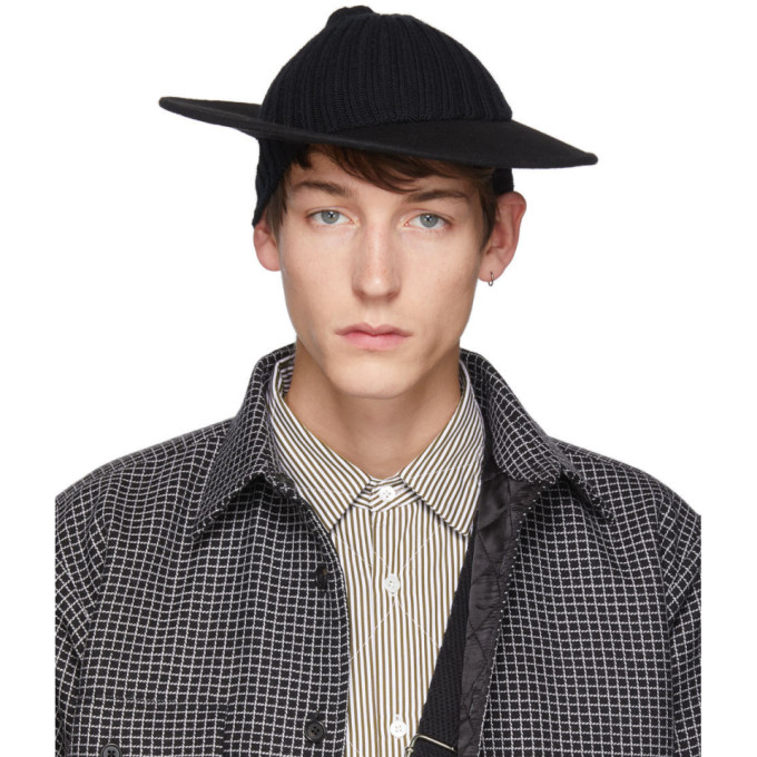 Bless Chapeau en laine noir Hatcap
