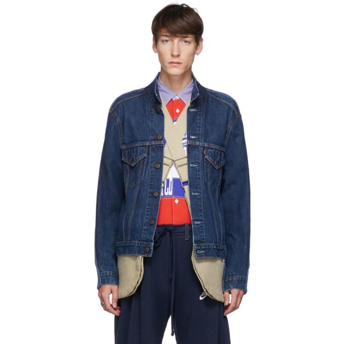 Bless Blouson en denim bleu The Cristaseya Jeansfrontpatent