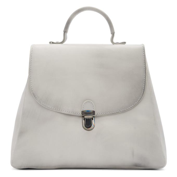 Cherevichkiotvichki WHITE FLAT SMALL LOCK BAG