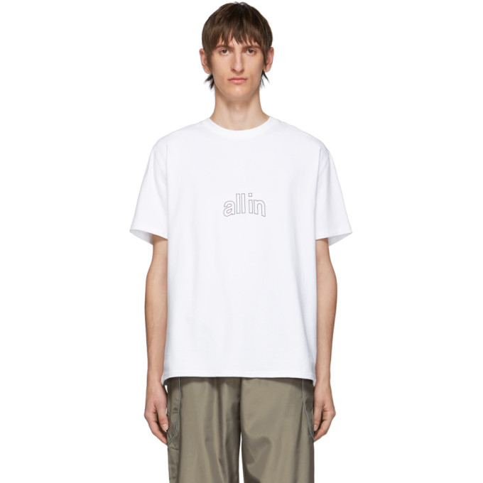 all in T-shirt blanc Arc Outline