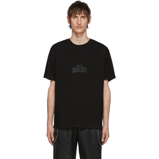 all in Black Arc Outline T-Shirt