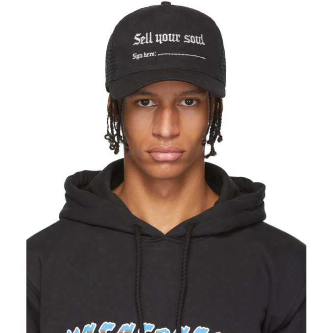 Nasaseasons Casquette noire Sell Your Soul