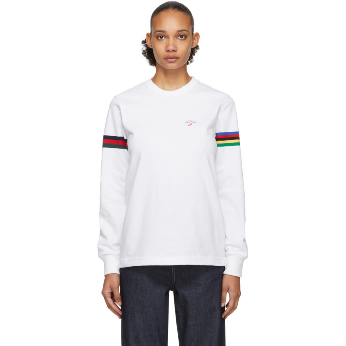 Noah NYC T-shirt a manches longues blanc Winged Foot Rugby