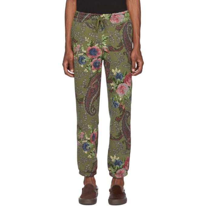 Noah NYC Pantalon de survetement a motif cachemire vert
