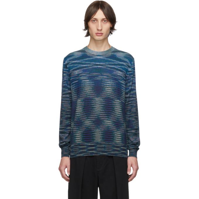 Missoni Blue and Black Crewneck Sweater