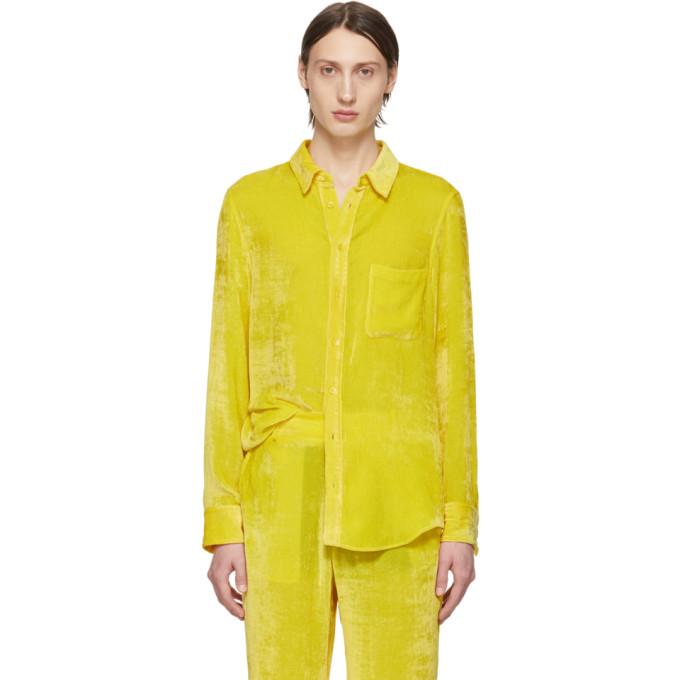 Sies Marjan Chemise jaune Velvet Cord exclusive a SSENSE