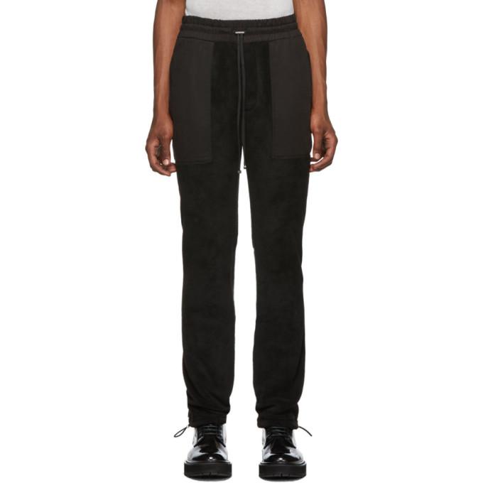 Amiri Black Fleece Military Lounge Pants