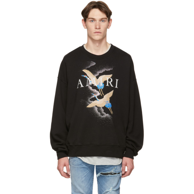Amiri Black Crane Sweatshirt
