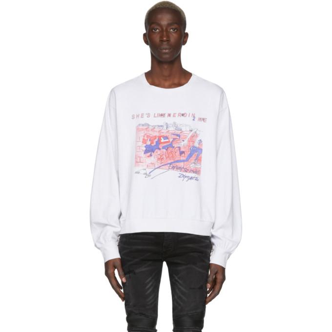 Enfants Riches Deprimes T-shirt a manches longues blanc Shes Like Heroin