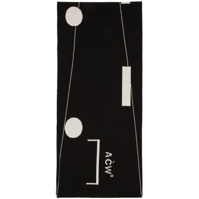 A-Cold-Wall* Foulard noir Modern Morse Code