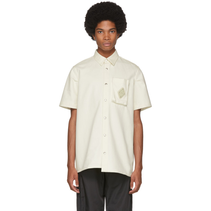 A-Cold-Wall* Chemise a manches courtes blanc casse Pocket