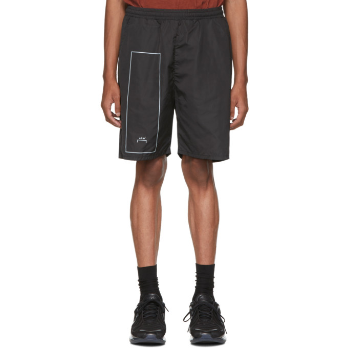A-Cold-Wall* Black Nylon Rectangle Shorts