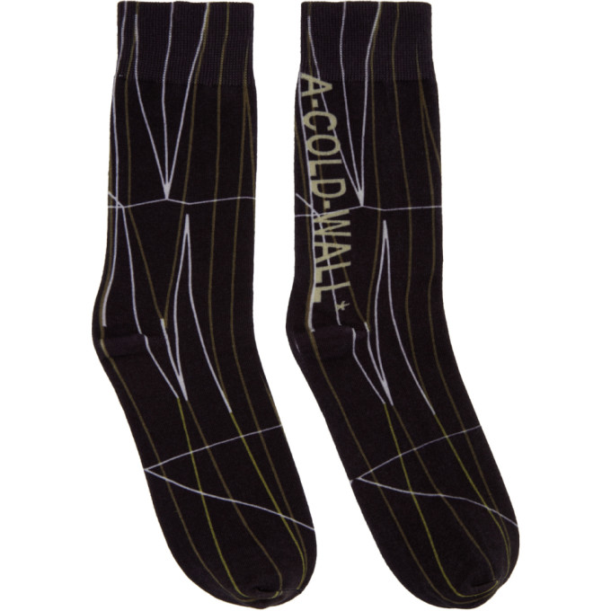 A-Cold-Wall* Black Knit Pattern Socks