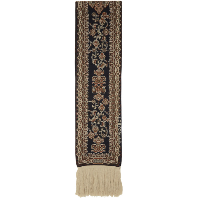 Y/Project Foulard noir End Fringe Carpet