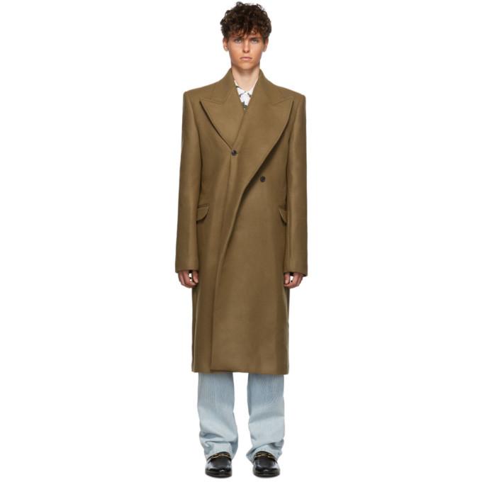 Y/Project Tan Double Lapel Coat