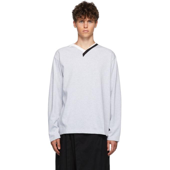 Y/Project Grey Multi-Collar T-Shirt