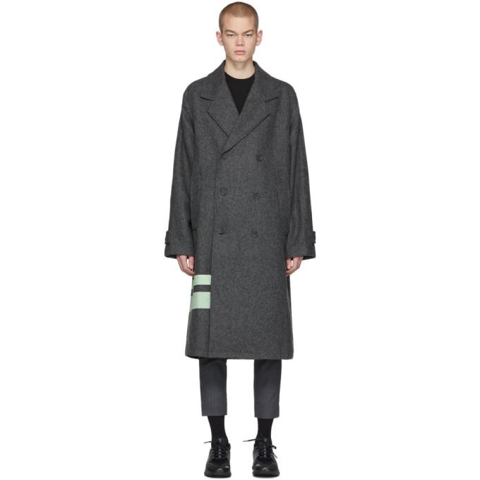 Rochambeau Manteau en laine gris