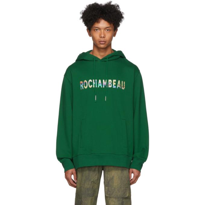 Rochambeau Pull a capuche vert Logo Core