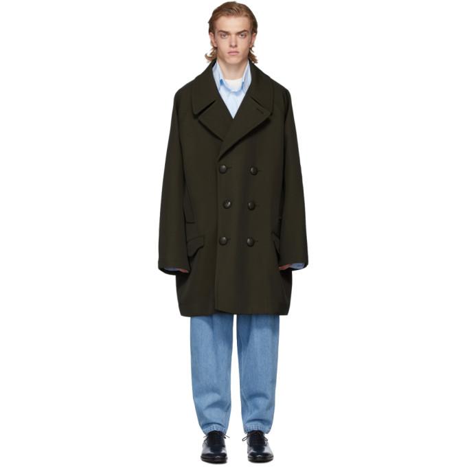 Hed Mayner Caban en laine brun Long