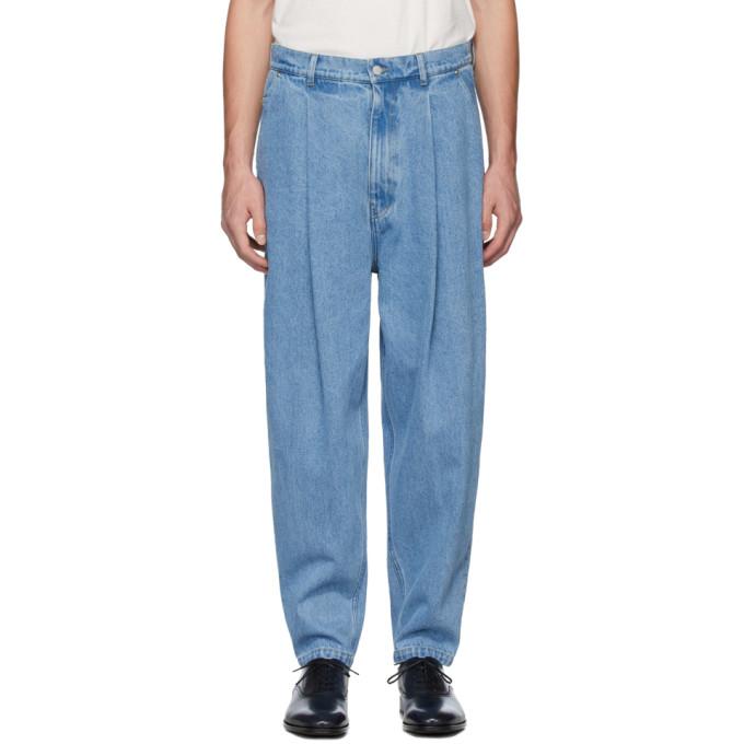 Hed Mayner Jean plisse bleu