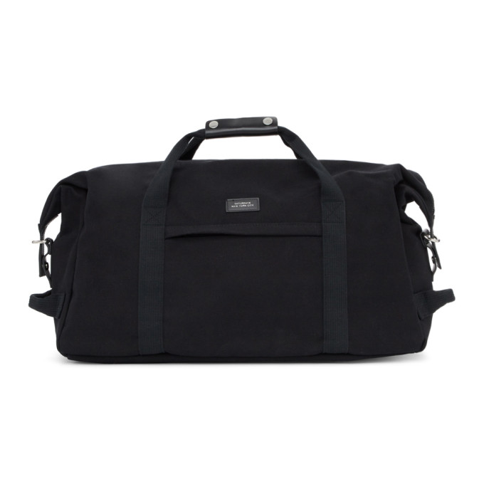 Saturdays Surf Nyc Bags SATURDAYS NYC BLACK NORFOLK HOLD ALL DUFFLE BAG