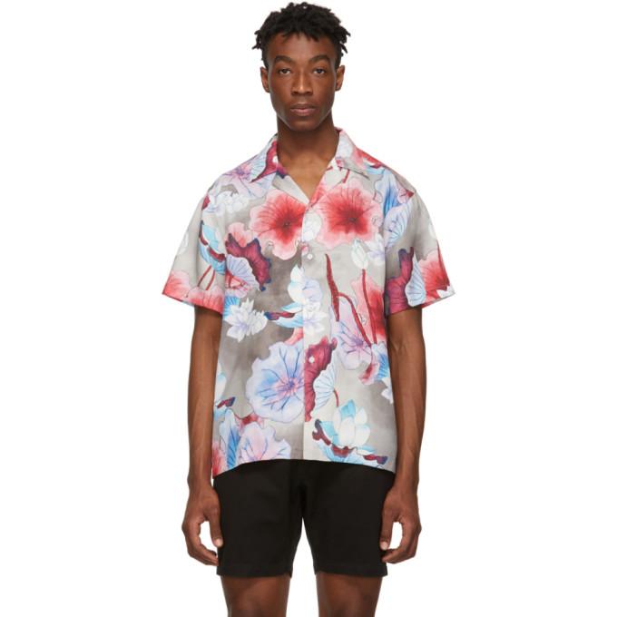 Saturdays Surf Nyc T-shirts SATURDAYS NYC MULTICOLOR CANTY SHORT SLEEVE SHIRT