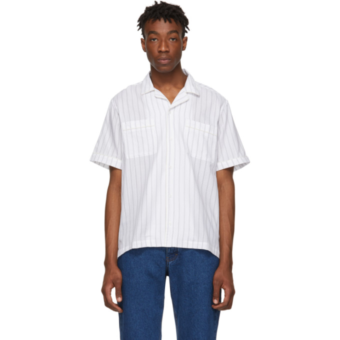 Saturdays NYC Chemise a manches courtes blanche Cameron