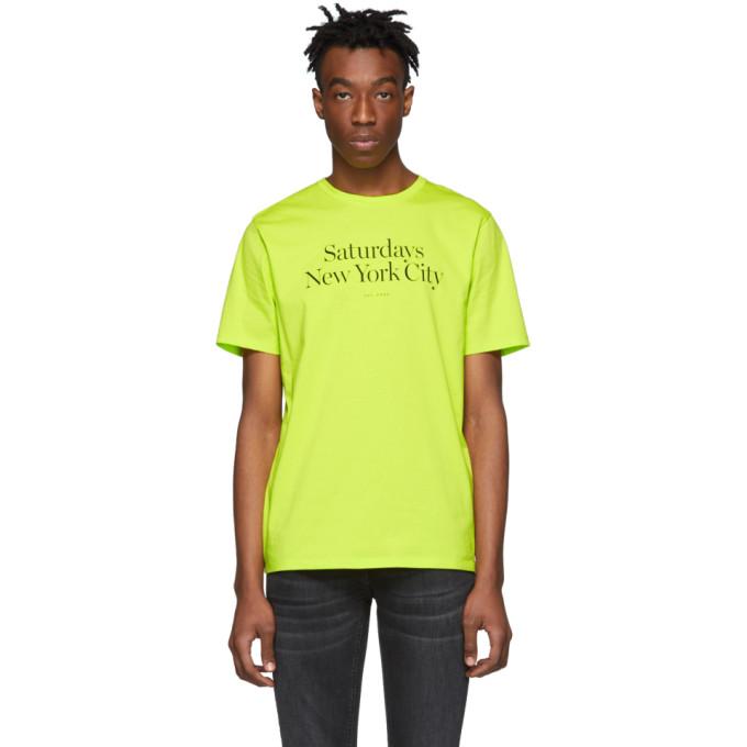 Saturdays Surf Nyc T-shirts SATURDAYS NYC YELLOW MILLER STANDARD T-SHIRT