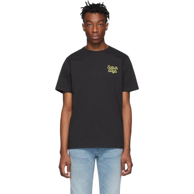 Saturdays NYC T-shirt noir Script Logo