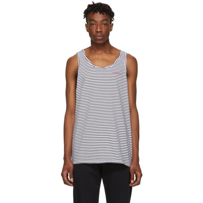 SATURDAYS NYC | Saturdays NYC Black And White Nick Tank Top | Goxip