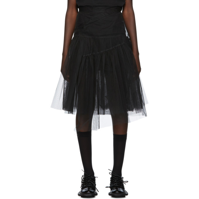 Shushu/Tong Jupe en tulle noire Two-Layer