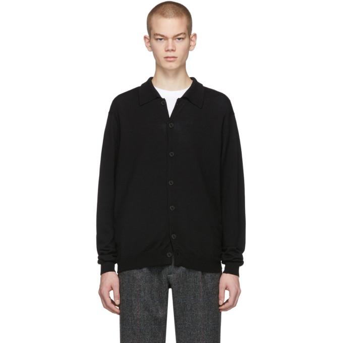 Second/Layer Cardigan en laine noir B-Side