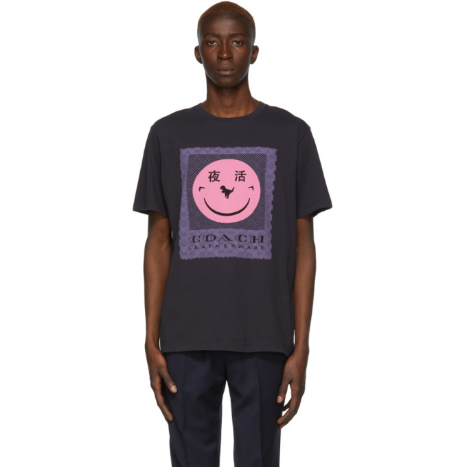 Coach 1941 T-shirt a logo noir Rexy edition Yeti Out